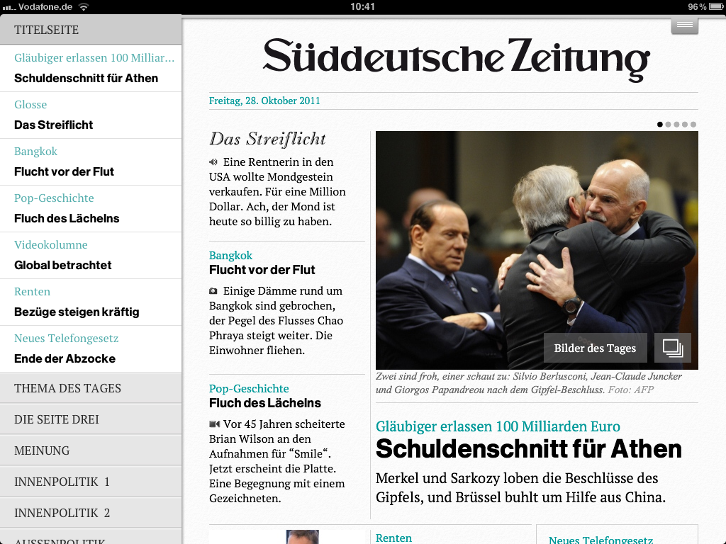 SZ auf dem iPad: multimedial top, interaktiv ein Flop