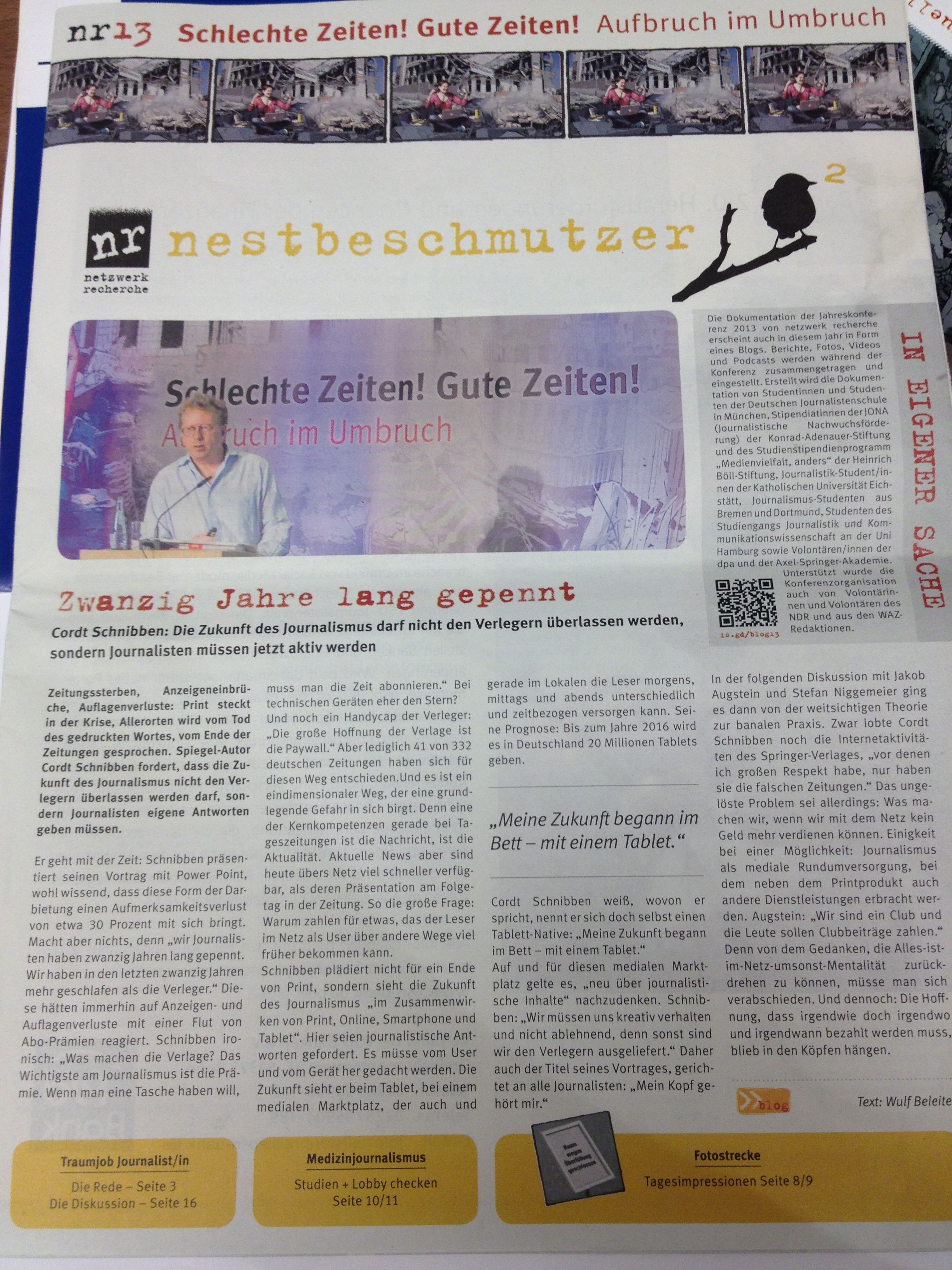 Journalistenschüler covern #nr13