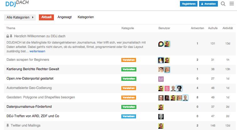 ddjdach.de – deutschsprachige Datenjournalismus-Mailingliste gestartet